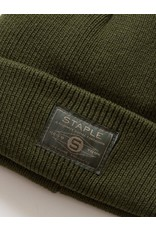STAPLE OLIVE PATCH BEANIE