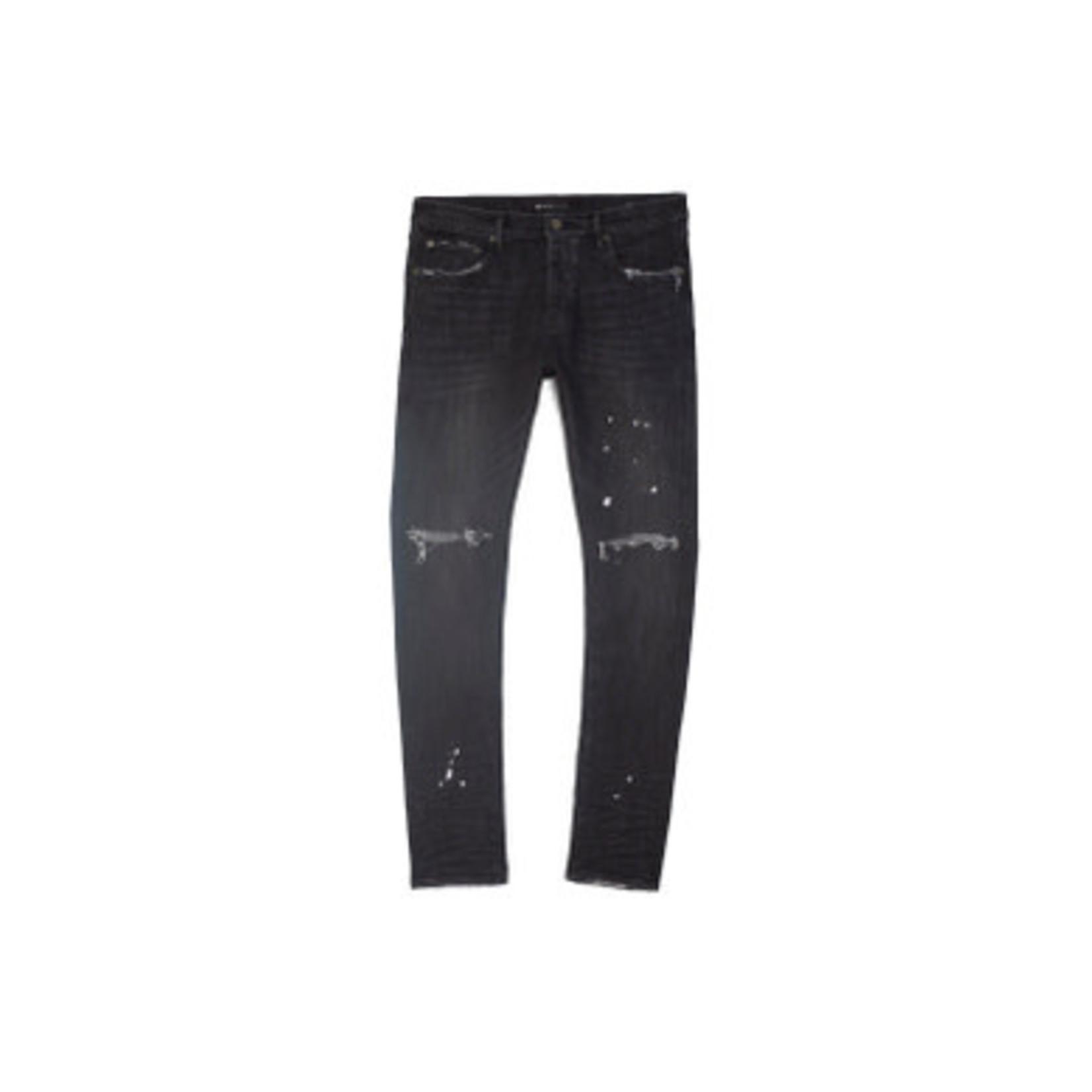 Purple Brand Black Over Spray Jeans
