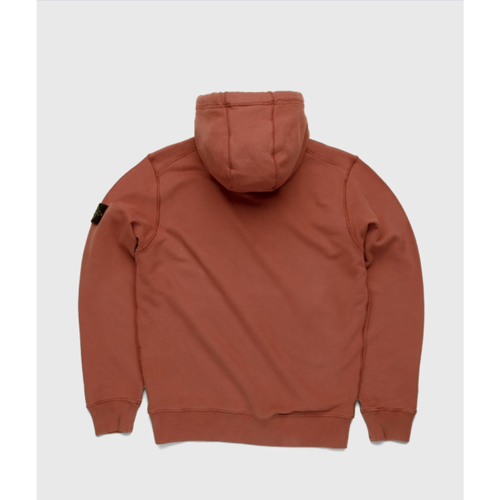 Stone Island Dust Color Treatment Hoodie Brick Red