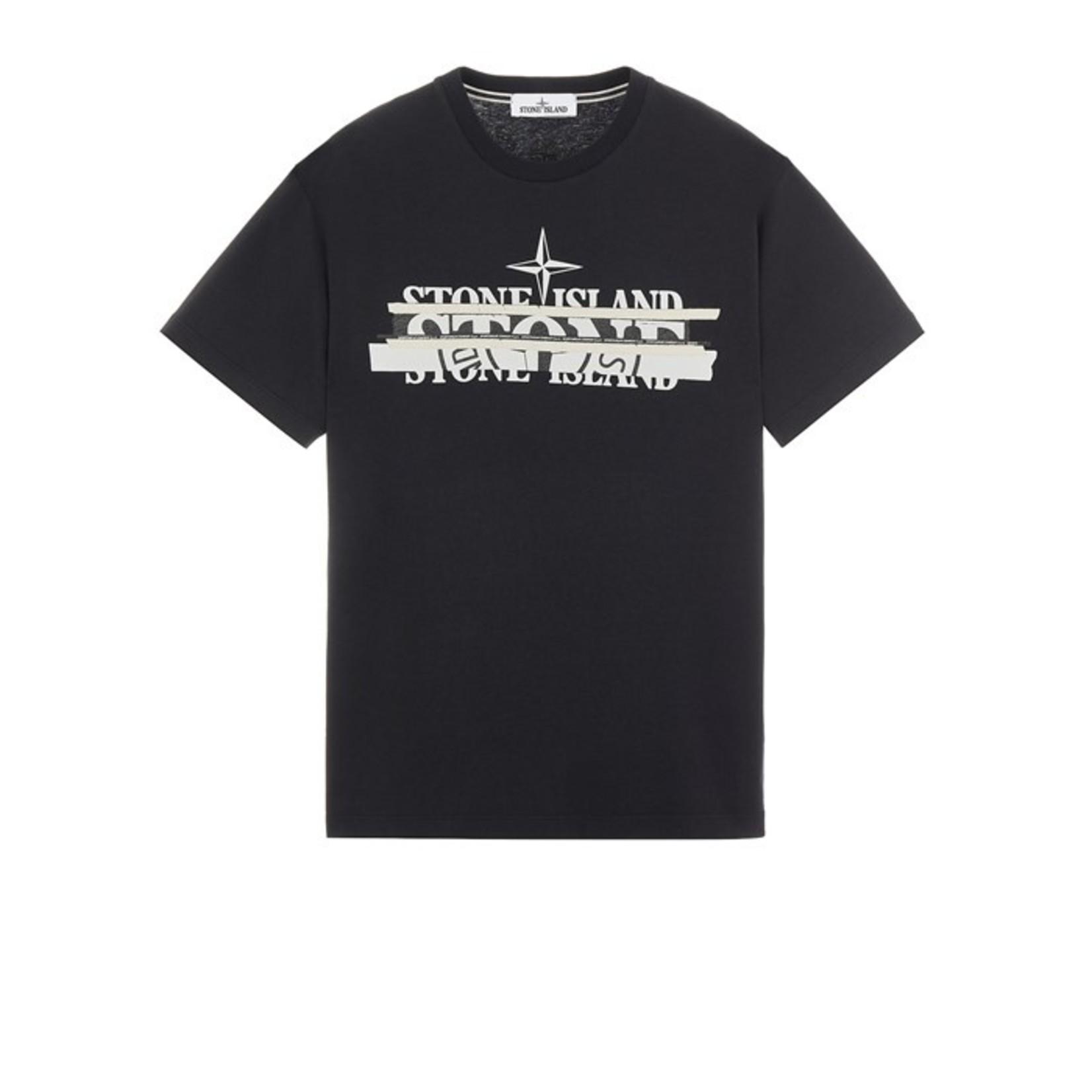 Stone Island mixed media one t-shirt