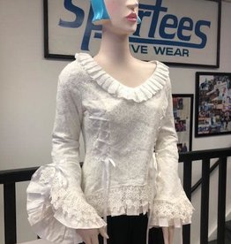 Victorian White Lace Overlay Theatre Blouse