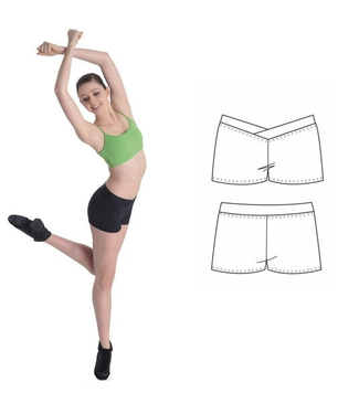 Bloch Bloch CR2714 Dance Shorts with v waist