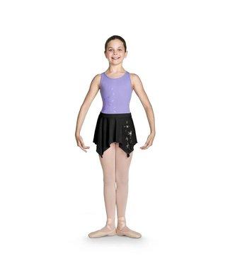 Bloch Bloch Shimmer Print Uneven Hem Skirt - Child