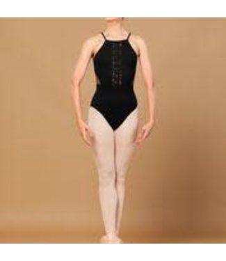 Bloch Bloch L5557 Embroidered V Neck, Open Back Leotard /Bodysuit