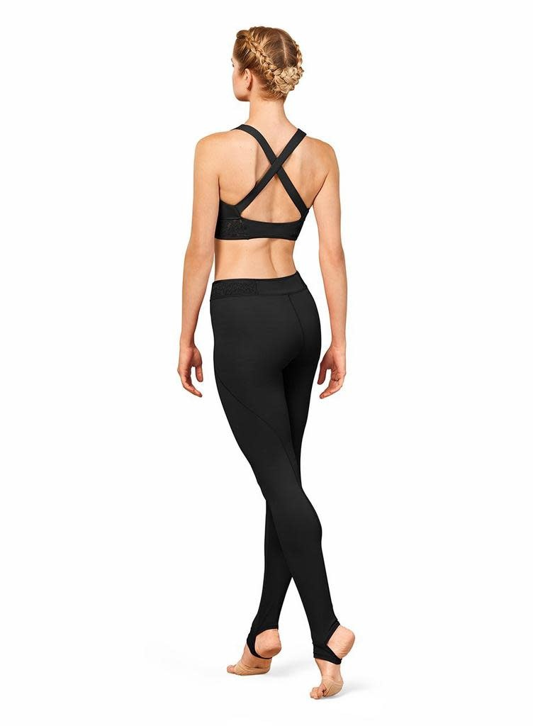 Bloch Bloch FP5230 Full Length Leggings with Embroidered Trim and Bottom  Stirrup