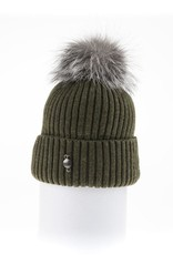 Canadian Hat Company Ltd. Harricana Beanie With Upcycle Fur Pom Pom