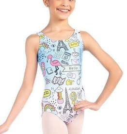 So Danca So Danca Swizzle Print Leotard