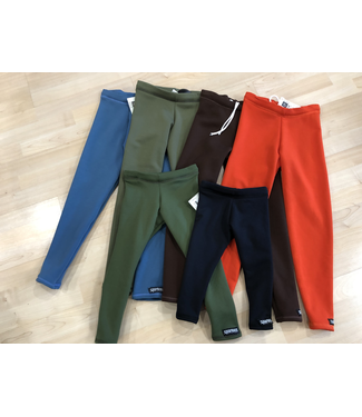 Sportees Sportees Children-Athletic Fit 4-Way Stretch Fleece Fitted Leggings/Tights w/ Drawstring