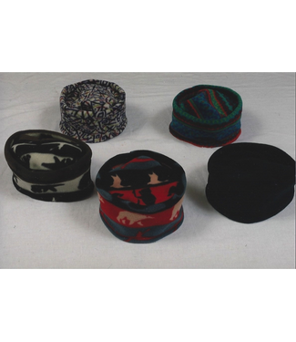 Sportees Sportees Flat Top Pill Box Hat- 200 Weight Fleece