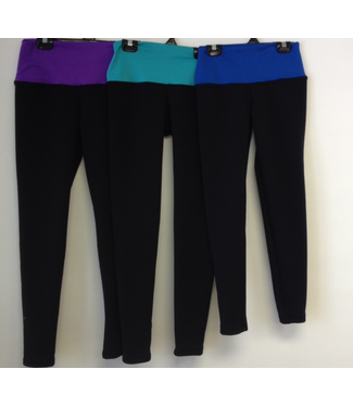 Sportees Sportees-Yoga-Tights/Leggings-FLEECE Made from Polartec Powerstretch with Wide Yoga Waistband