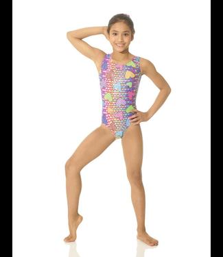 Mondor Mondor 7822-Printed Metallic Tank Gymnastics-Bodysuit