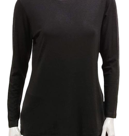 Gilmour Gilmour Modal Sweater Knit Fitted Top, Long Sleeved