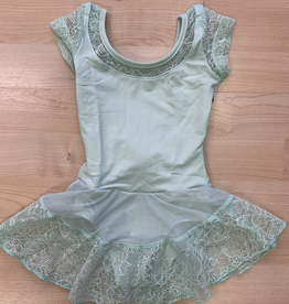 So Danca So Danca Leotard w/ Lace Skirt, AQUA, 4-6