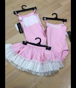 So Danca So Danca Leotard/Bodysuit with lace trim, BALLET PINK, 4/6