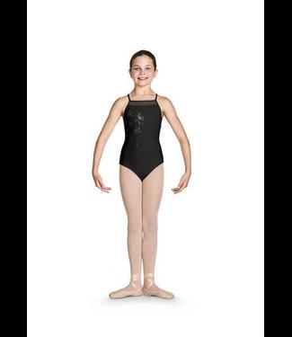 Bloch Bloch Jacinda Shimmer X Back Cami Leotard/ Bodysuit, BLACK, 8/10