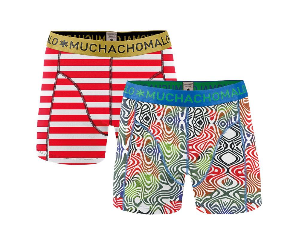 Muchachomalo Muchachomalo-Men's-Under-Shorts-Cotton 2 pack, CHAR2, S