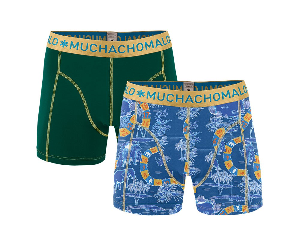 Muchachomalo Muchachomalo-Men's-Under-Shorts-Cotton 2 pack, SAFARI2, S