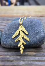 LoveMorningMoon Love Morning Moon Cedar Pendant Necklace, Bronze, Medium