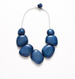 ELK Elk Blue/Grey Cord Dome Short Necklace