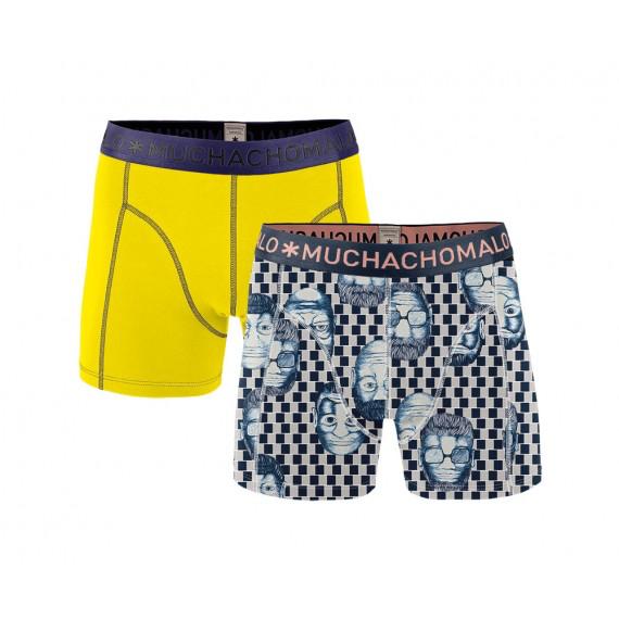 Muchachomalo Muchachomalo-Men's-Under-Shorts-Cotton 2 pack, EMOTION06, XL