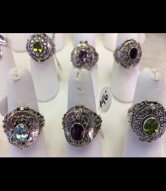 Bamiyan Silver B-Victorian Rings-Locket Type