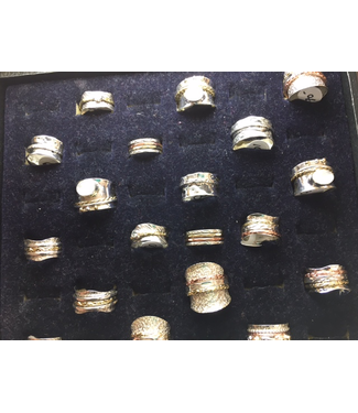 Sterling Stones SS-Spinner Rings-Silver ADD PRICE