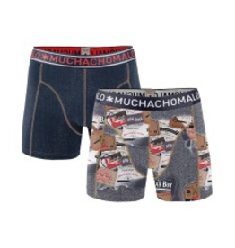 Muchachomalo Muchachomalo-Men's-Under-Shorts-Cotton 2 pack, JEANS6, S