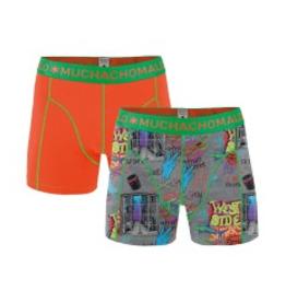 Muchachomalo Muchachomalo-Men's-Under-Shorts-Cotton 2 pack, WEST, L