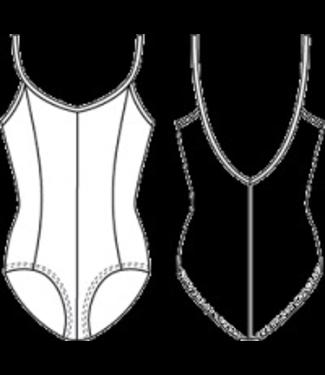 Bloch M207CD-Mirella-Seamed-Camisole-Leotard/BodysuitM207CD-Mirella-Seamed-Camisole-Leotard/Bodysuit, BLACK, 6X/7