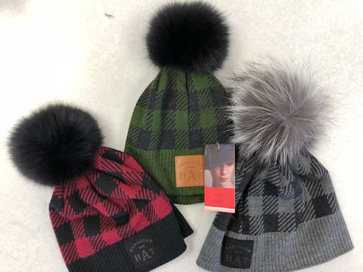 Canadian Hat Company Ltd. Canadian Hat Plaid Toque, RED PLAID, O/S