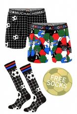 Muchachomalo Muchachomalo-Men's-Under-Shorts-Cotton 2 pack, SOCCER, S
