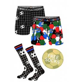 Muchachomalo Muchachomalo-Men's-Under-Shorts-Cotton 2 pack, SOCCER, XL