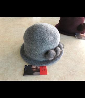 Canadian Hat Company Ltd. Canadian Hat Company Cindy Ormos Cloche, HEATHER GREY, O/S