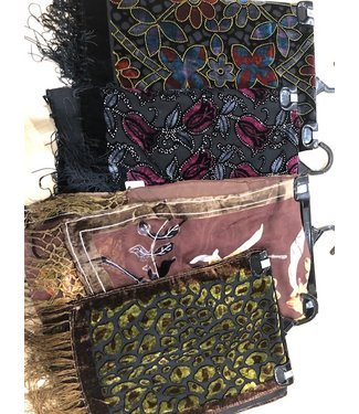 CA Silk Printed Scarves with Fringe