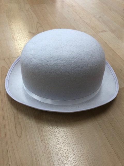 Derby Hat, WHT, Adult