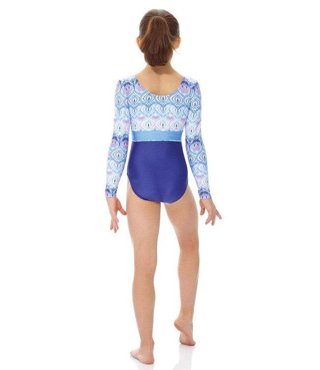 Purple Bubbles Long Sleeve bodysuit/leotard 17881