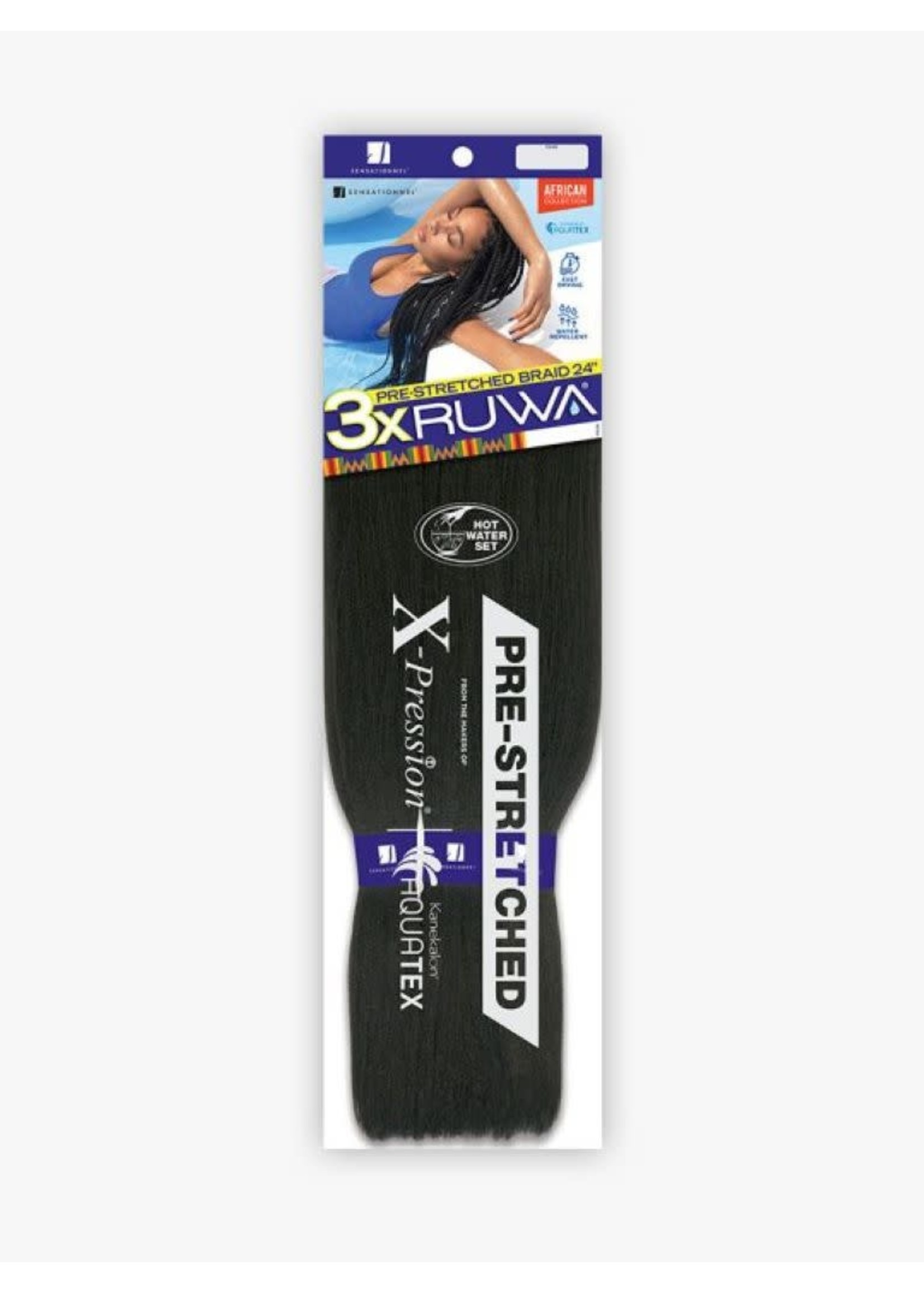 """Sensationnel 3X Ruwa 24"""" Braiding Hair"""