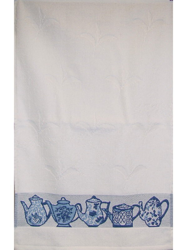 Gift Items Tea Towel with Teapot Border Design