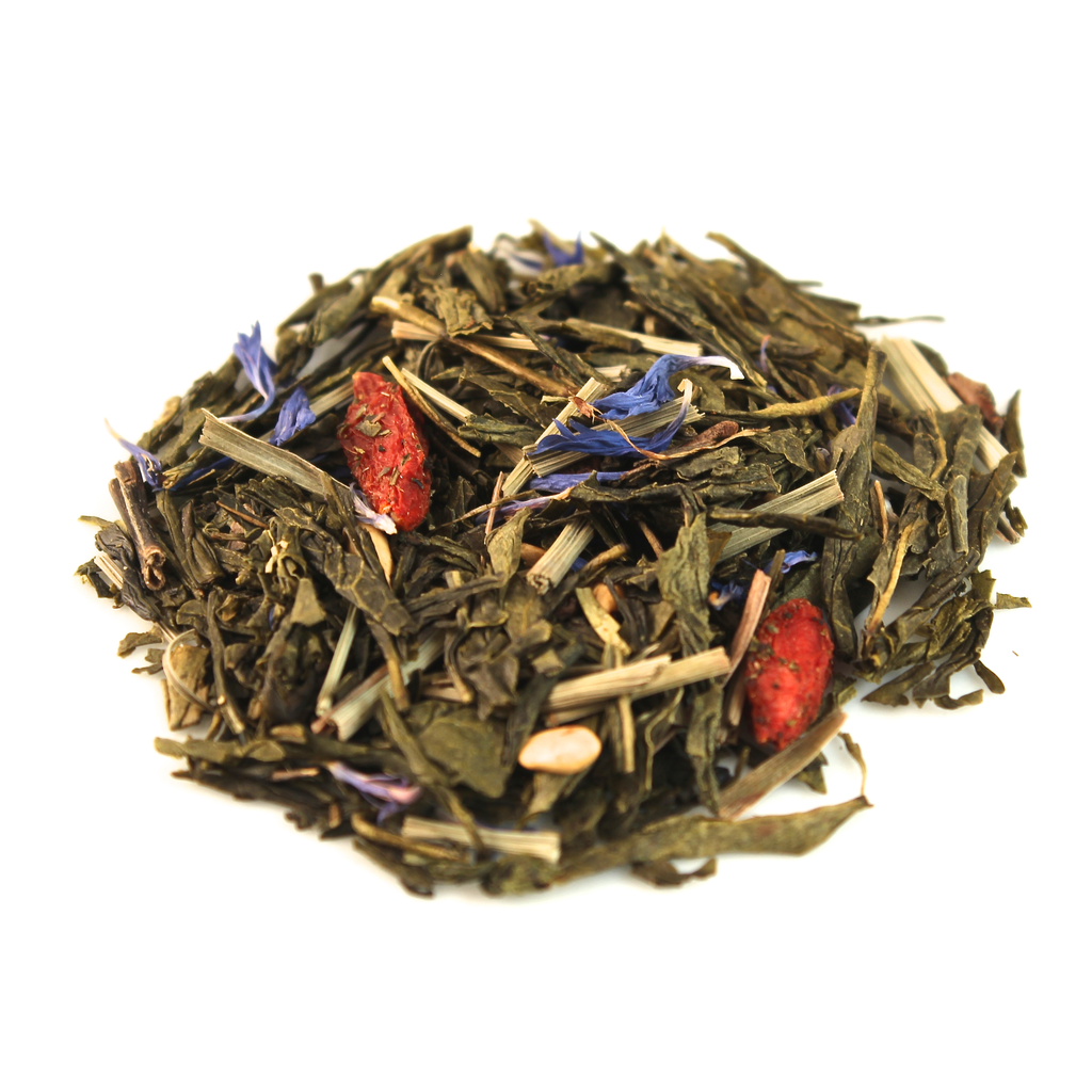 Teas Green tea blend, flavored Goji Berry (Pomegranate/Blueb.)