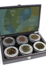 Teas Wooden Gift Box with 6 Tins of Tea