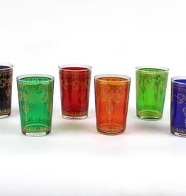 "Tea products Tea Glass Set ""Sita"" 6 Assorted Glasses 4fl oz. (0.12l)"