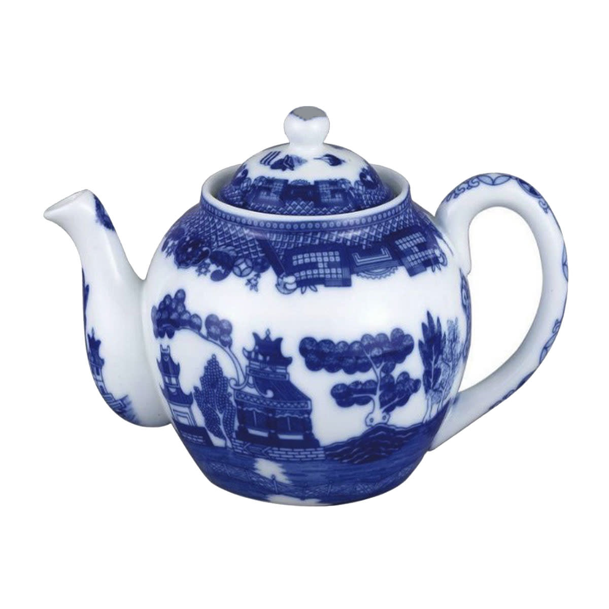 Tea products Blue Willow Teapot with Infuser, 16oz