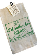 "Gift Items Tea Towel ""I'd rather be BIKING in South Carolina"""