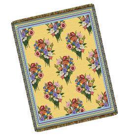Textiles Bouquet Flowers Throw