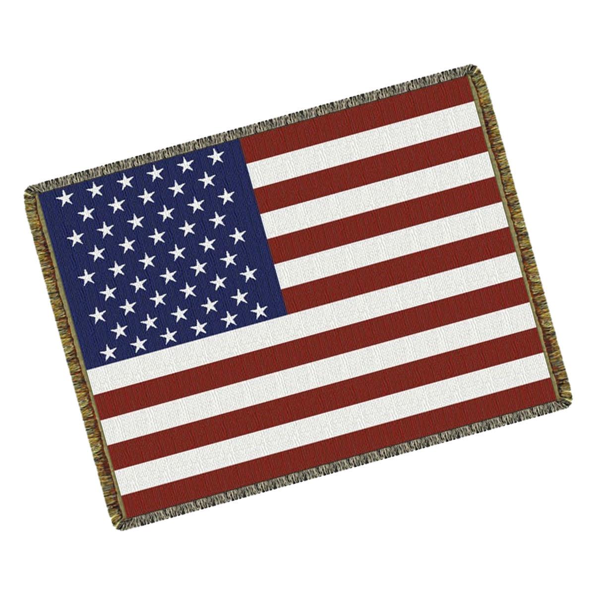 Textiles US Flag Throw