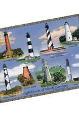 Textiles NC Lighthouses Throw