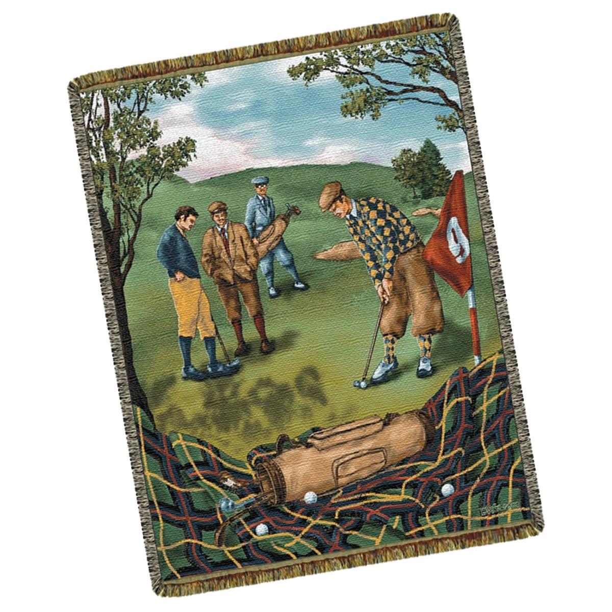 Textiles Nostalgic Golf Throw