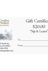 Service Gift Certificate $20.00
