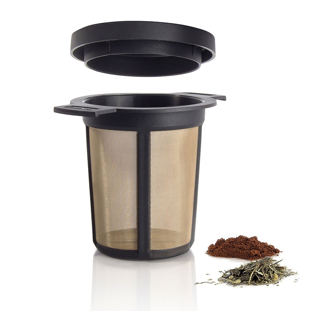 Tea products Brewing Basket size M black frame, stainless steel mesh