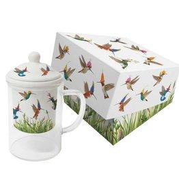 Tea Mug With Strainer Glass - Meadow Buzz